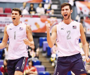 volleyball, matthew anderson, and aaron russell image