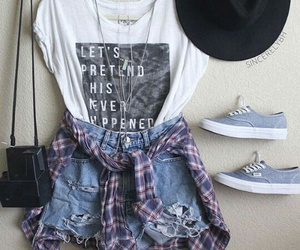 outfit, clothes, and vans image