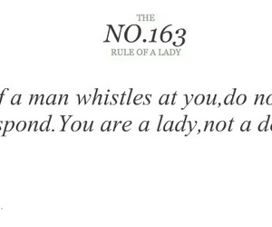 lady, quote, and rules image