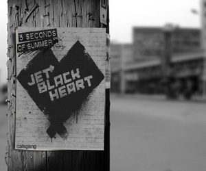 5 seconds of summer, jet black heart, and 5sos image