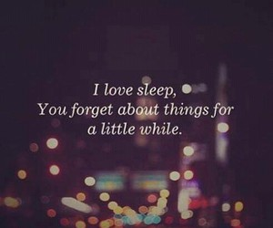 quote, sleep, and love image