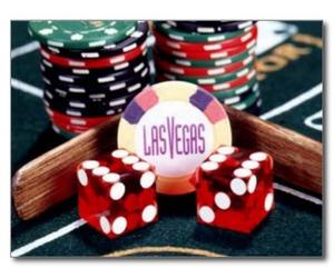casino, postcard, and vegas image