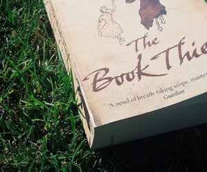 book, grass, and the book thief image