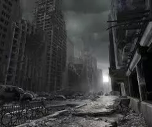 city, apocalypse, and dark image