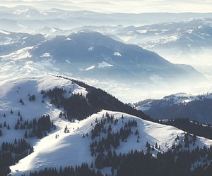 mountains, snow, and winter image