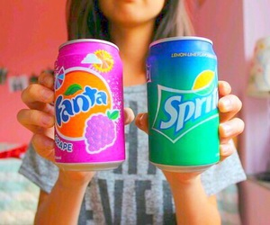 fanta, sprite, and tumblr image