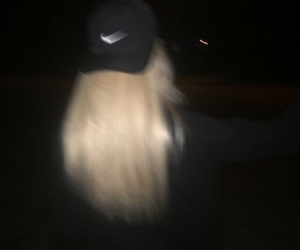 blonde and nike image
