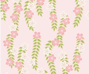 pattern, floral, and pink image