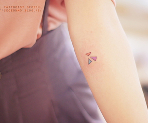 colour, geometric, and tattoo image
