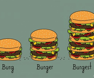 burger, food, and clever image