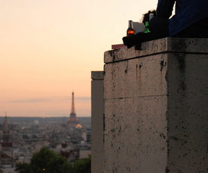 bottle, guy, and eiffel tower image