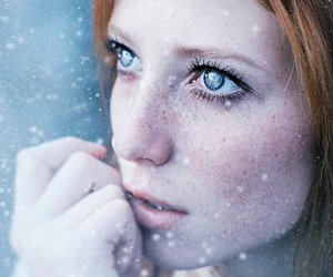beautiful, freckles, and blue eyes image