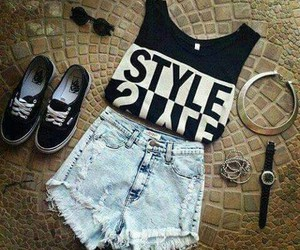 style, fashion, and vans image