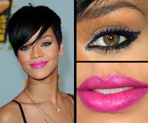 lips, makeup, and rihanna image