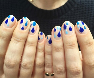 blue, nailstyle, and rain image