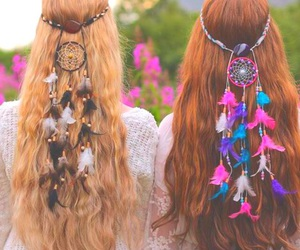 hair, friends, and dream catcher image