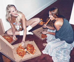 best friends, fashion, and food image
