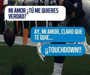 couples, NFL, and touchdown image