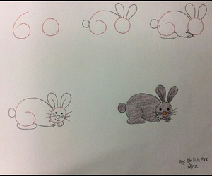 conejo dibujo image