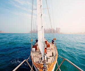ocean, sail, and sea image