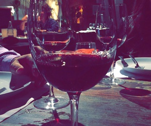 dinner, drinking, and red image