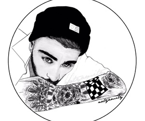zayn malik, zayn, and art image