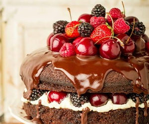 berries, cake, and delicious image