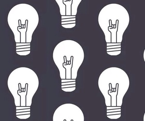background, lightbulbs, and rock and roll image