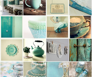 blue, bluegreen, and Collage image