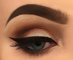 autumn, makeup, and winged eyeliner image