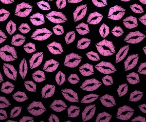 wallpaper, lips, and pink image