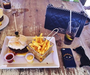 food, chanel, and fries image