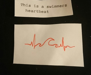 heartbeat, quotes, and swimming image
