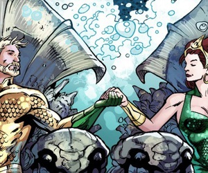 aquaman, dc comics, and mera image