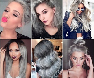 cool, gray, and hair image