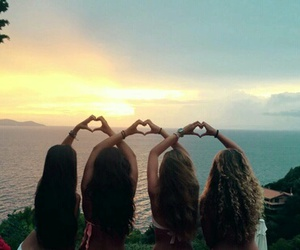 beautiful, hearts, and sisters image
