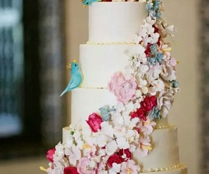 birds, cake, and pretty image