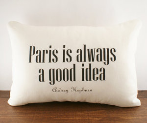 audrey hepburn, pillow, and quote image