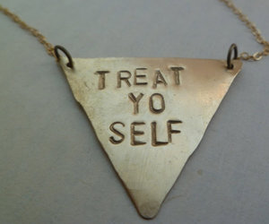 etsy, necklace, and triangle image