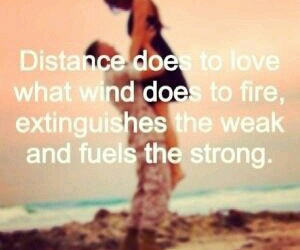 quote, love, and distance image