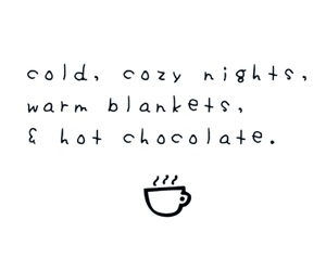 quotes, winter, and hot ​chocolate image