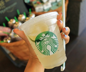 starbucks, drink, and lemonade image