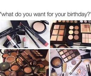 makeup, birthday, and mac image