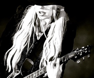 black & white, blond, and cool image