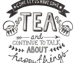 tea, quote, and happy image