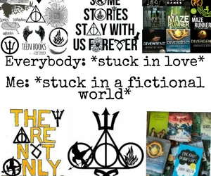 books, the hunger games, and true image