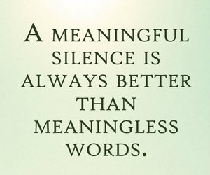 life, quote, and silence image