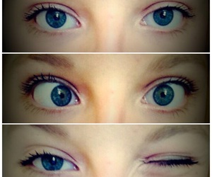 blue eyes, ❤, and eyes image
