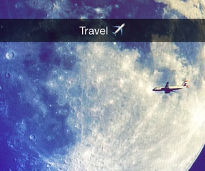 Flying, moon, and planes image