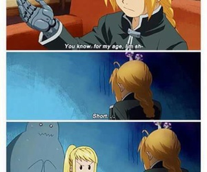 short, fullmetal alchemist, and anime image